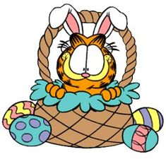 Garfield, has been around longer than the Easter bunny. Garfield Cartoon, Garfield And Odie, Garfield Comics, Garfield Quotes, Hoppy Easter, Easter Bunny, Easter Cats, April Easter, Easter 2015