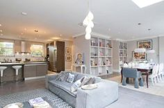 Even though this is an Open Plan Living Dining Area, it's important to differentiate each area.