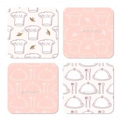 Collection Of Coasters Templates For Food Design
