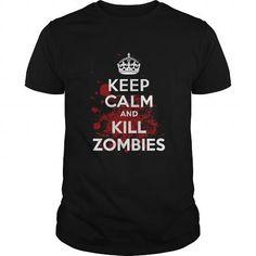 Awesome Tee Zombie shirt I Keep Calm and Kill Zombies TShirt T shirts