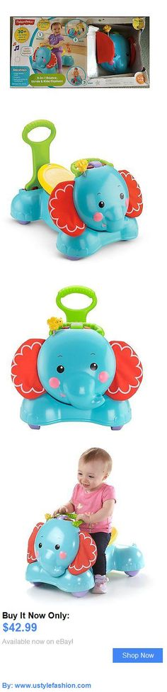 Developmental Baby Toys: Fisher-Price 3-In-1 Bounce, Stride And Ride Elephant (Box With Minor Damage) BUY IT NOW ONLY: $42.99 #ustylefashionDevelopmentalBabyToys OR #ustylefashion Baby Girl Toys, Toys For Girls, Fisher Price, Yoshi, Things That Bounce, Elephant, Box, Character, Girls Toys