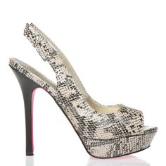 Tameara Shoe- I dont know if I could pull of snake-skin but I would love to try!
