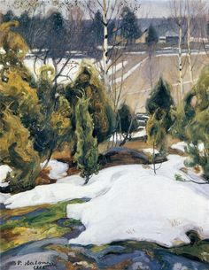 The Life and Art of Pekka Halonen – Alternative Finland Scandinavian Paintings, Scandinavian Art, Helene Schjerfbeck, Romanticism Paintings, Russian Painting, Nordic Art, Canadian Art, Watercolor Trees, First Art