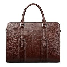 Luxury alligator briefcase laptop shoulder bag business bag for men, This strong alligator leather briefcase is very durable and can hold all of your necessities for your everyday use. Leather Laptop Bag, Leather Luggage, Leather Briefcase, Lv Luggage, Briefcase For Men, Business Briefcase, Laptop Shoulder Bag, Business Shoes, Crossbody Bag
