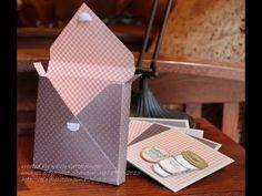 "FUN FOLDS ""Envelope Punch Board Card Box"" with Kelly Gettelfinger - YouTube"
