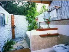 outdoor bathroom ideas Pretty Small Outdoor Pool Bathroom Sign Africa Door Cabana Decor with outdoor bathroom ideas Outdoor Pool Bathroom, Outdoor Shower Enclosure, Outdoor Showers, Open Baths, Diy Bathtub, Tropical Bathroom, Exterior, Shower Remodel, Home Design
