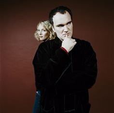 Denis Rouvre . Portraits . Quentin Tarantino - Uma Thurman