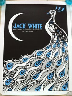 Jack White 2012 Tour Poster