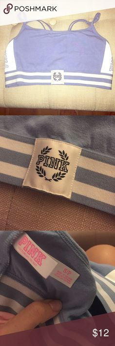 VS pink cotton sports bra Victoria's Secret pink cotton strappy back sports bra PINK Victoria's Secret Intimates & Sleepwear Bras