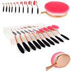 Professional 10Pcs Oval Cream Gold Pink Makeup Brushes Set & Kabuki Toothbrush #ad