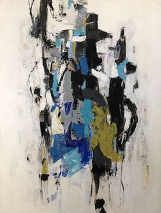 """Julie Schumer 50 X 38 in., mixed media on panel """"Entwined II"""""""