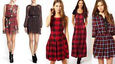 vestidos cuadros escoceses