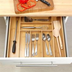 Picture Gallery of kitchen drawer organizer bamboo - you will find everything about kitchens on http://thekitchenlove.com/