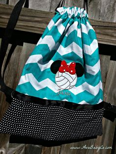 Personalized Embroidered Minnie Mouse Volleyball by AvaBabyCo, $30.00