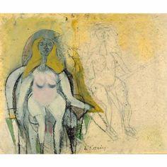 Willem de Kooning; 'Seated Woman', 1950 https://www.instagram.com/p/BSgkiiUg7iU/?taken-by=therow