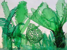 Recycled PET Plastic Bottle Plant Sculptures by Veronika Richterová