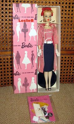 """#2 blonde ponytail Barbie wearing """"Roman Holiday"""" from the collection of Leslie Bote."""