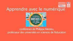 #ClasseTICE - Conférence inaugurale « Apprendre avec le numérique »