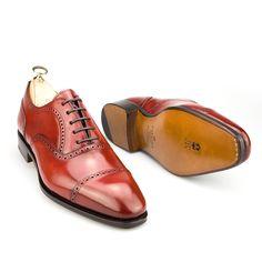 zapatos oxford de hombre en cordovan rubi - Carmina Shoemaker