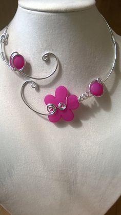 Bijoux uniques Alu fil collier collier par LesBijouxLibellule