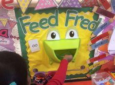Feed Fred with spelling words from Read,Write Inc