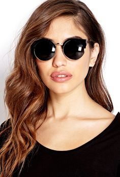 Forever 21 Chic Cateye Sunglasses in Black (BLACK/GOLD) | Lyst