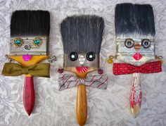 My Salvaged Treasures: Paint Brush Pals