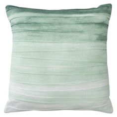 ombre pleated pillow - mint