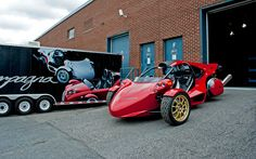 Campagna Motors T-REX and V13R the 'Original' 3 wheels vehicle with a motorcycle engine