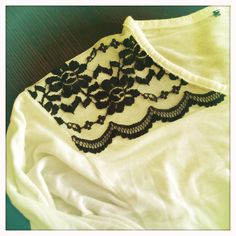 Easy T-Shirt #DIY #lace #Spitze