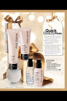 Mary Kay TimeWise Miracle Set! Cleanser, Moisturizer, Day cream with SPF and Night Cream with antioxidants! Marykay.com/nboes
