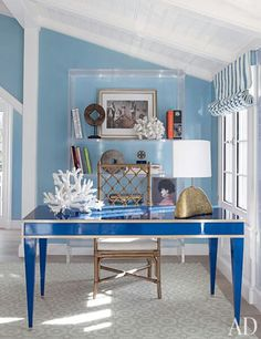 Office space of the day...C. Wonder blue