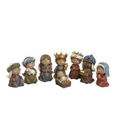 Love this Nativity Children Figurine Set on #zulily! #zulilyfinds