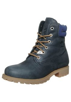 Panama Jack Lace-up boots - blue - Click Image to Close
