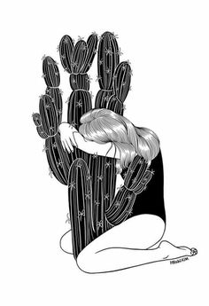 """Summer Love"" by Henn Kim 21 Gorgeous Art Prints That Are Surprisingly Moving Art And Illustration, Cactus Illustration, Cartoon Illustrations, Music Poster, Art Amour, Henn Kim, Art Design, Summer Of Love, Summer Time"