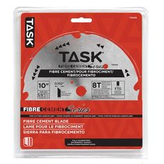 Task Tools T22429 10-in x 8T Saw Blade for Cutting HardiPlank Cement Board