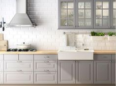 Kitchen Cabinet Color Ideas still love this bright and cheery kitchen with light gray cabinets White tops, light gray bottoms? Description from pinterest.com. I searched for this on bing.com/images