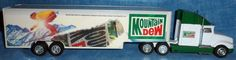 Vintage 1996 Golden Wheel MOUNTAIN DEW Semi Truck B1 #GoldenWheels