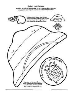 Free printable Lemur craft for Rainforest theme, tints and