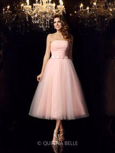 9709c99a23d Ball Gown Strapless Sash Ribbon Belt Sleeveless Short Satin Quinceanera  Dresses