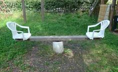 Redneck seesaw.....this is just way too funny!!!