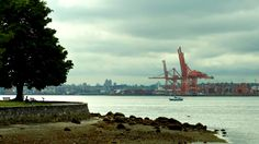 My Panoramio Google Earth Pictures: Vancouver - Harbour Cranes Seen From Stanley Park  Labels: British Columbia, Canada, frtzw906, Panoramio, park, Reise Fotos, Reiseführer, shore, Tourism, Vancouver, Vancouver Coast & Mountains, water