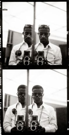 Self-portraits by Sammy Davis, Jr. - the mirror picture before the mirror picture was cool lol
