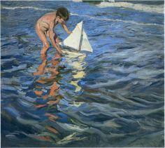 "joaquín sorolla y bastida - ""the young yachtsman"" (1909), oil on canvas."