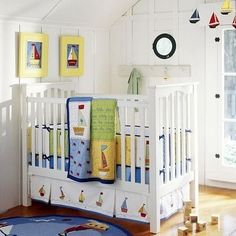 Baby room for lake house with boats