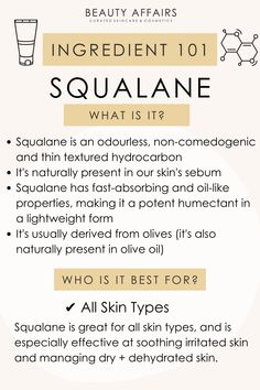 Squalane oil benefits to get glowing skin. How to use squalane oil and which skin type it's best for. Skin Care Routine Steps, Skin Routine, Skincare Routine, Face Skin Care, Diy Skin Care, Healthy Skin Tips, Tips Belleza, Belleza Natural, Flawless Skin