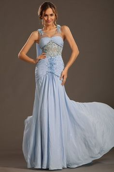 eDressit 2013 S/S Fashion Show Handmade Flowers Blue Evening Dress Prom Gow (F00133332)