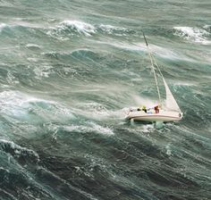 photo: Richard Bennett's 1998 Sydney HobartRace in Heavy seas. especially hard in a racing boat.