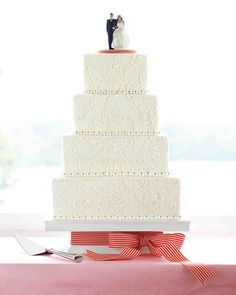 For as long as brides have dreamed of multitier wedding cakes, they have envisioned icing swirls and swags adorning them. Today's bakers (and brides) continue to make wonderful use of traditional piping techniques. As these creations show, designs can be fresh and unique. Ask to see samples of a baker's work, either photographs or prop cakes on display in the shop, before commissioning him or her to render your vision in icing. You'll generally pay more for a cake with intricate p...