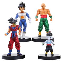 Dragon Ball Z Sun Goku Vegeta Chiaotzu Tien shinhan PVC Figures Toys 4pcs/set DBFG198 #Affiliate